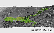 Satellite Panoramic Map of Mong Mit, desaturated