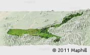 Satellite Panoramic Map of Mong Mit, lighten