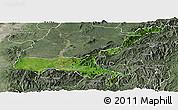 Satellite Panoramic Map of Mong Mit, semi-desaturated