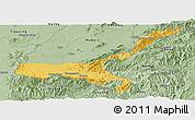 Savanna Style Panoramic Map of Mong Mit