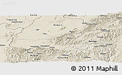 Shaded Relief Panoramic Map of Mong Mit