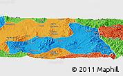 Political Panoramic Map of Mong Nai