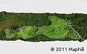 Satellite Panoramic Map of Mong Nai, darken
