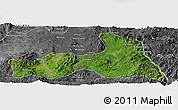 Satellite Panoramic Map of Mong Nai, desaturated