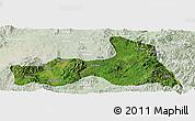Satellite Panoramic Map of Mong Nai, lighten