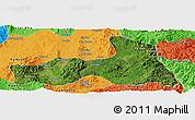 Satellite Panoramic Map of Mong Nai, political outside