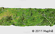 Satellite Panoramic Map of Mong Nai