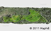 Satellite Panoramic Map of Mong Nai, semi-desaturated