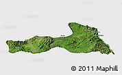 Satellite Panoramic Map of Mong Nai, single color outside
