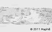 Silver Style Panoramic Map of Mong Nai
