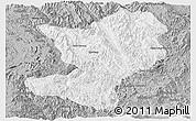 Gray Panoramic Map of Mong Ping