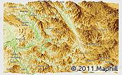 Physical Panoramic Map of Mong Ping