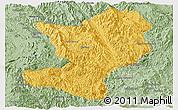 Savanna Style Panoramic Map of Mong Ping