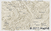 Shaded Relief Panoramic Map of Mong Ping