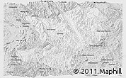 Silver Style Panoramic Map of Mong Ping