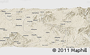 Shaded Relief Panoramic Map of Mong Yai
