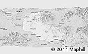 Silver Style Panoramic Map of Mong Yai