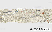 Shaded Relief Panoramic Map of Mong Yang
