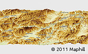 Physical Panoramic Map of Mong Yawng