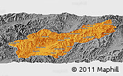 Political Panoramic Map of Mong Yawng, desaturated