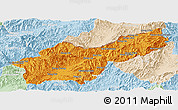 Political Panoramic Map of Mong Yawng, lighten