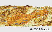Political Panoramic Map of Mong Yawng, physical outside
