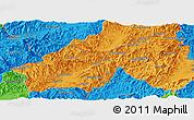 Political Panoramic Map of Mong Yawng