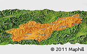 Political Panoramic Map of Mong Yawng, satellite outside