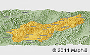 Savanna Style Panoramic Map of Mong Yawng