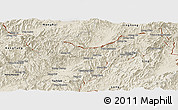 Shaded Relief Panoramic Map of Mong Yawng