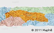 Political Panoramic Map of Mongkhak, lighten