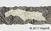 Shaded Relief Panoramic Map of Mongkhak, darken