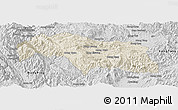 Shaded Relief Panoramic Map of Mongkhak, desaturated