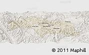 Shaded Relief Panoramic Map of Mongkhak, lighten