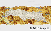 Shaded Relief Panoramic Map of Mongkhak, physical outside