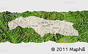 Shaded Relief Panoramic Map of Mongkhak, satellite outside