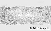 Silver Style Panoramic Map of Mongkhak