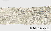 Shaded Relief Panoramic Map of Mu-Se
