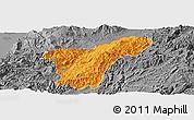 Political Panoramic Map of Namhkan, desaturated