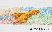 Political Panoramic Map of Namhkan, lighten