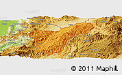 Political Panoramic Map of Namhkan, physical outside