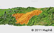 Political Panoramic Map of Namhkan, satellite outside