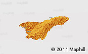 Political Panoramic Map of Namhkan, single color outside