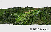 Satellite Panoramic Map of Namhkan, darken