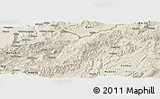 Shaded Relief Panoramic Map of Namhkan