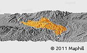 Political Panoramic Map of Namhsan, desaturated