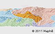 Political Panoramic Map of Namhsan, lighten