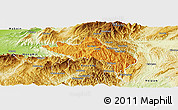 Political Panoramic Map of Namhsan, physical outside