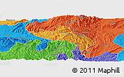 Political Panoramic Map of Namhsan