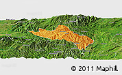Political Panoramic Map of Namhsan, satellite outside